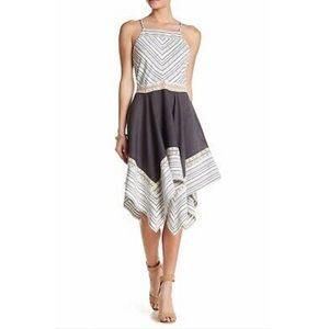 Anthro Liberty Garden Striped Handkerchief Dress